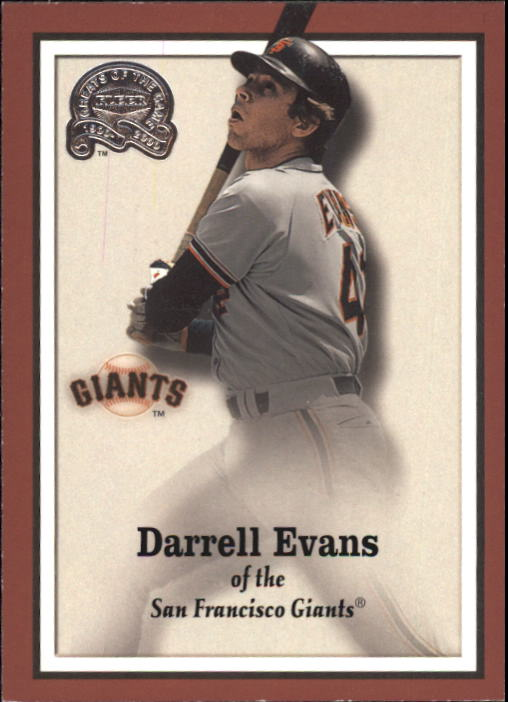 2000 Greats of the Game #65 Darrell Evans front image