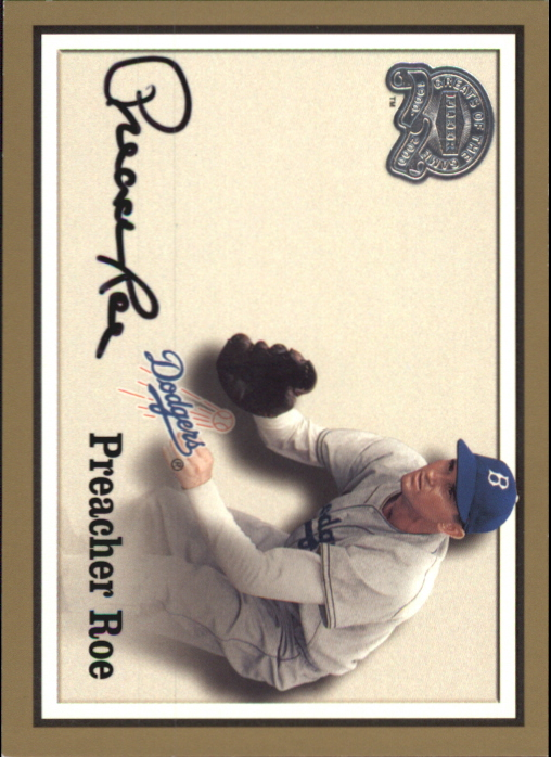 2000 Greats of the Game Autographs #70 Preacher Roe