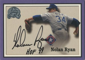 2000 Greats of the Game Autographs Memorable Moments #2 Nolan Ryan/HOF 99