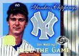 2000 Greats of the Game Yankees Clippings #YC6 Don Mattingly