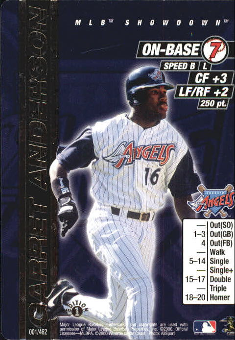 2000 MLB Showdown 1st Edition #1 Garret Anderson