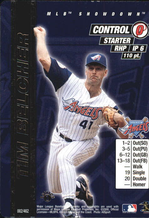 2000 MLB Showdown 1st Edition #2 Tim Belcher