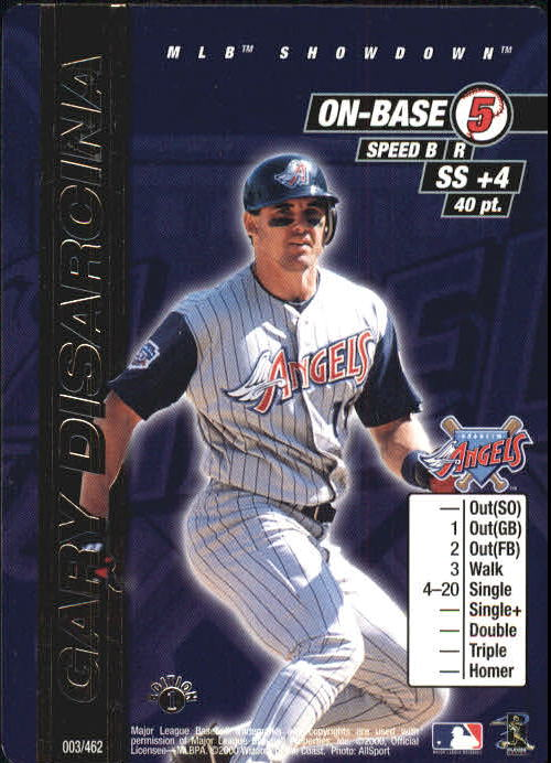 2000 MLB Showdown 1st Edition #3 Gary DiSarcina UER