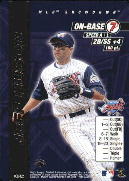 2000 MLB Showdown 1st Edition #8 Jeff Huson