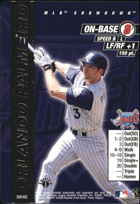 2000 MLB Showdown 1st Edition #9 Orlando Palmeiro