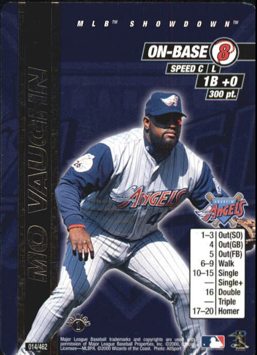 2000 MLB Showdown 1st Edition #14 Mo Vaughn