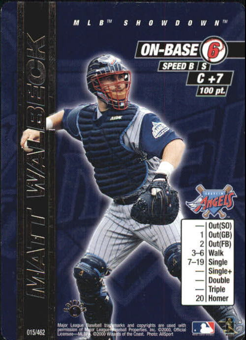 2000 MLB Showdown 1st Edition #15 Matt Walbeck