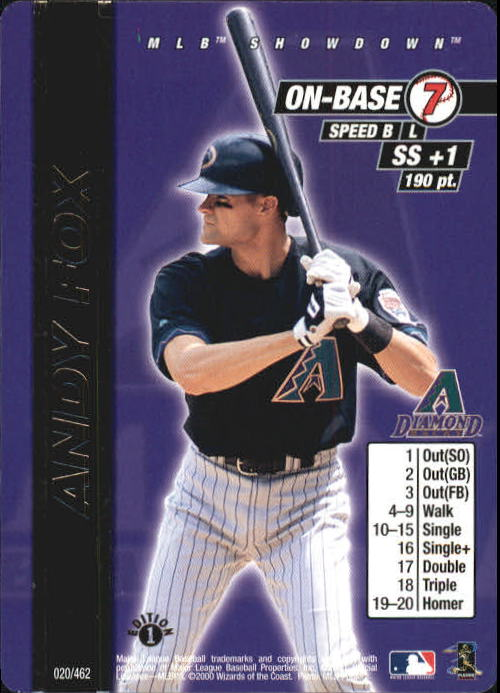 2000 MLB Showdown 1st Edition #20 Andy Fox