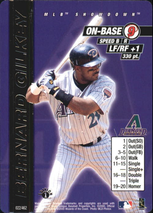 2000 MLB Showdown 1st Edition #22 Bernard Gilkey