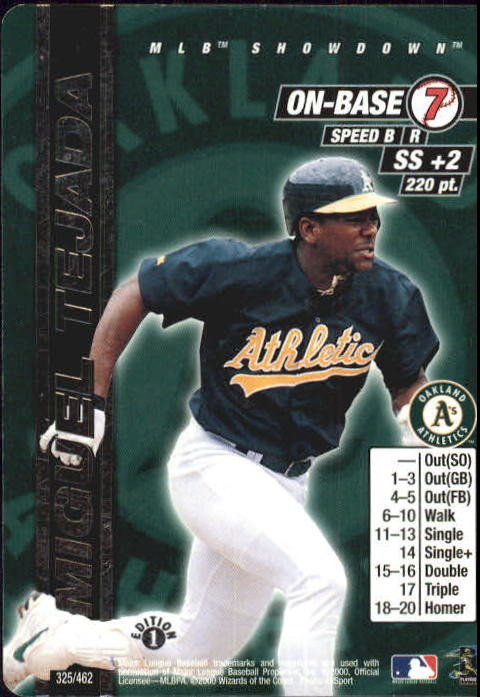 2000 MLB Showdown 1st Edition #325 Miguel Tejada