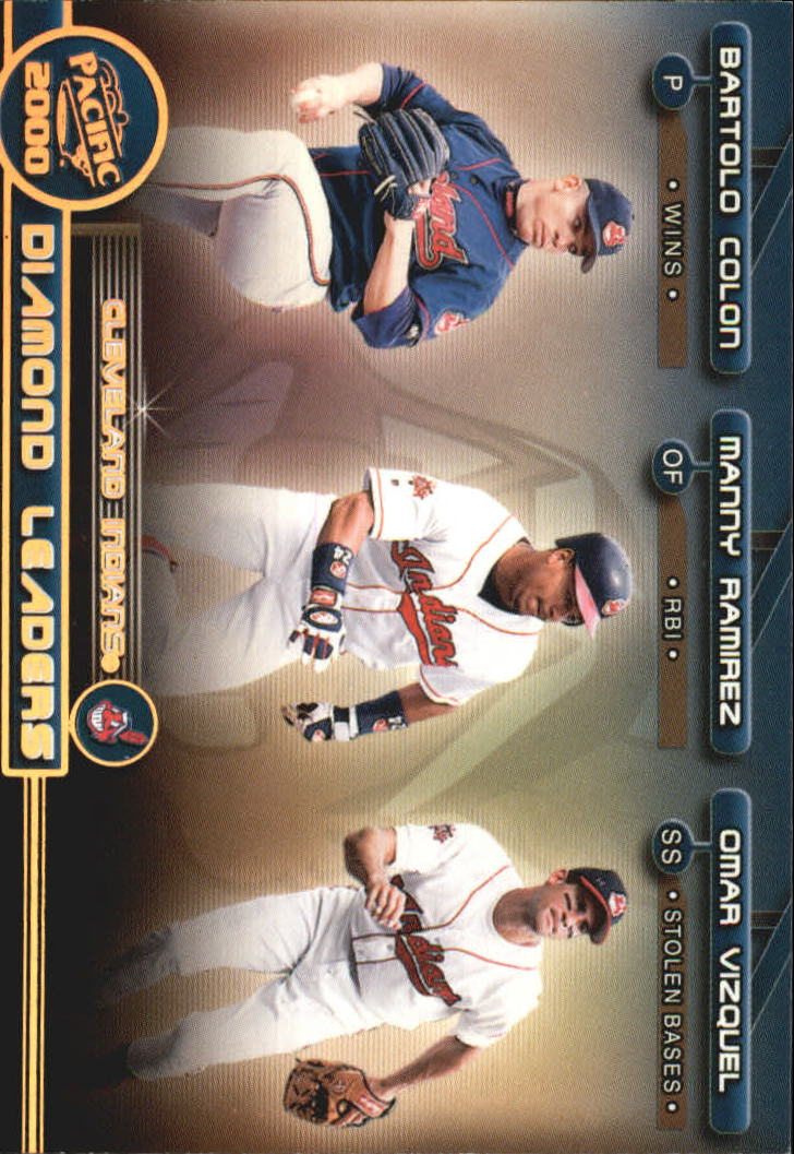 2000 Pacific Diamond Leaders #5 Colon/Ramirez/Vizquel