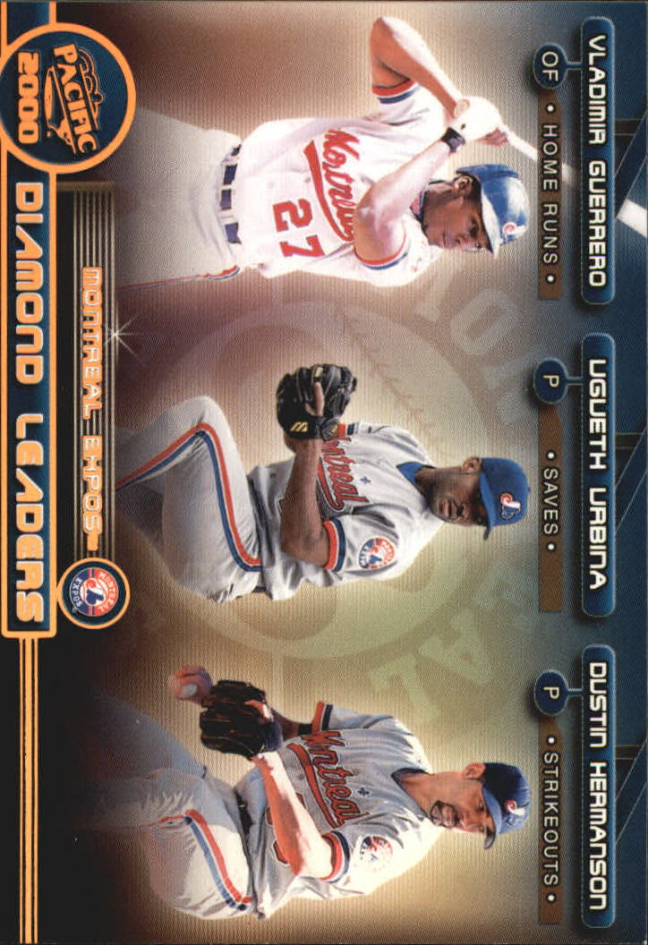 2000 Pacific Diamond Leaders #24 V.Guerrero/D.Herm/Urbina