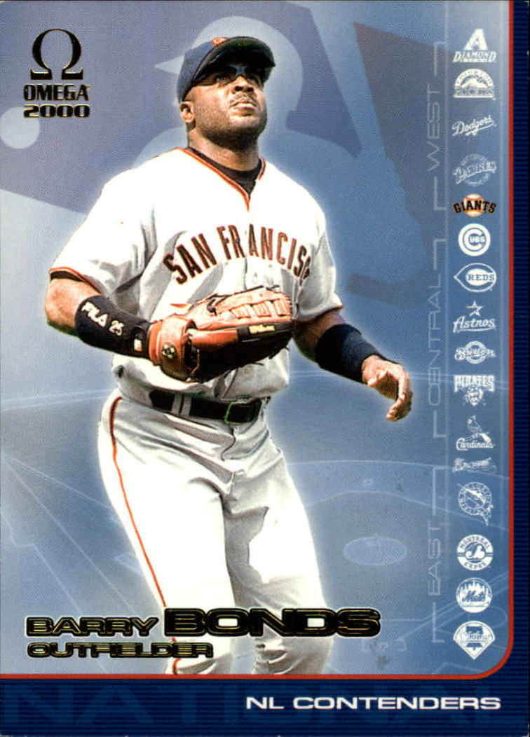 2000 Pacific Omega AL/NL Contenders #NL18 Barry Bonds