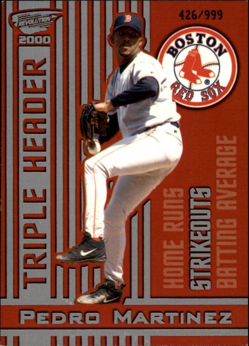 2000 Revolution Triple Header Silver #25 Pedro Martinez