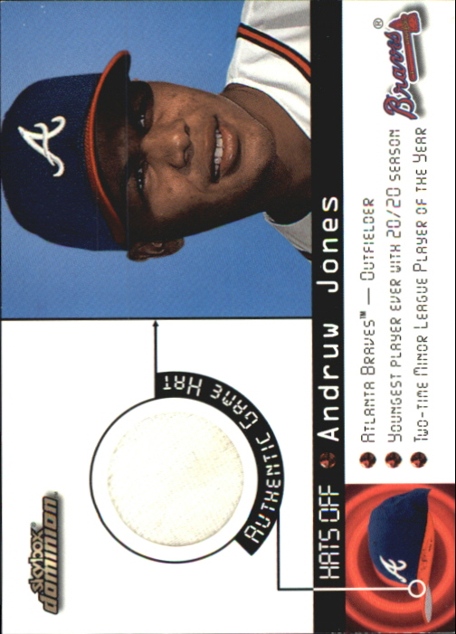 2000 SkyBox Dominion Hats Off #7 Andruw Jones