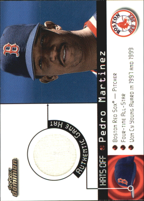 2000 SkyBox Dominion Hats Off #9 Pedro Martinez