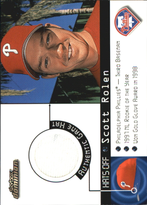 2000 SkyBox Dominion Hats Off #13 Scott Rolen