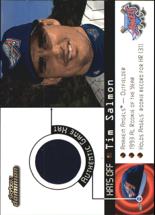 2000 SkyBox Dominion Hats Off #14 Tim Salmon