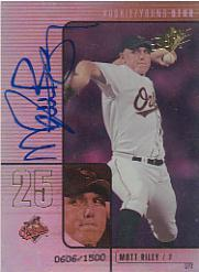 2000 SPx #97 Matt Riley AU/1500