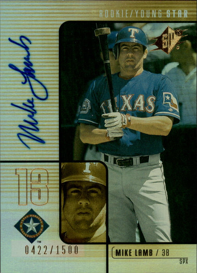 2000 SPx #136 Mike Lamb AU/1500 RC