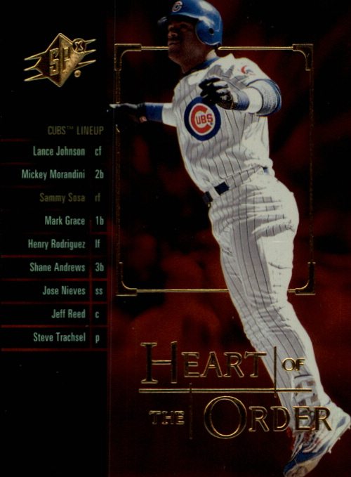 2000 SPx Heart of the Order #H8 Sammy Sosa