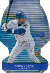 2000 Stadium Club 3 X 3 Luminous #9B Sammy Sosa