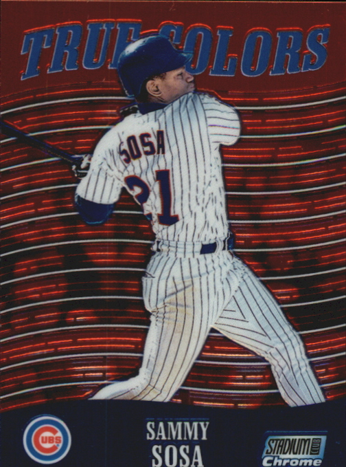 2000 Stadium Club Chrome True Colors #TC1 Sammy Sosa