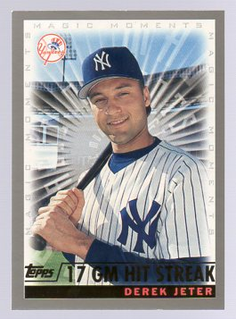 2000 Topps #478E D.Jeter MM 17 GM Hit Streak