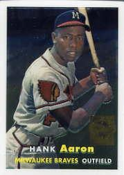 2000 Topps Aaron Chrome #4 Hank Aaron 1957