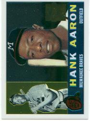 2000 Topps Aaron Chrome #7 Hank Aaron 1960