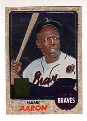 2000 Topps Aaron Chrome #15 Hank Aaron 1968