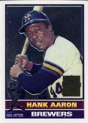 2000 Topps Aaron Chrome #23 Hank Aaron 1976