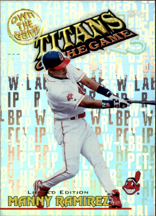 2000 Topps Limited Own the Game #OTG30 Manny Ramirez