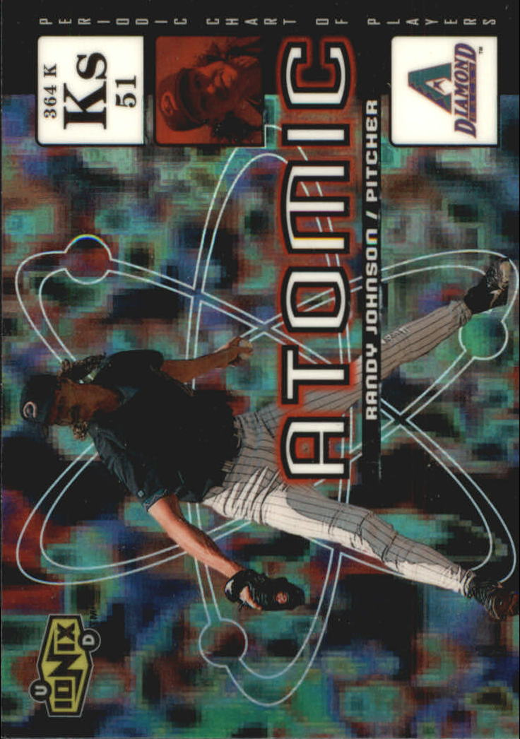 2000 UD Ionix Atomic #A9 Randy Johnson
