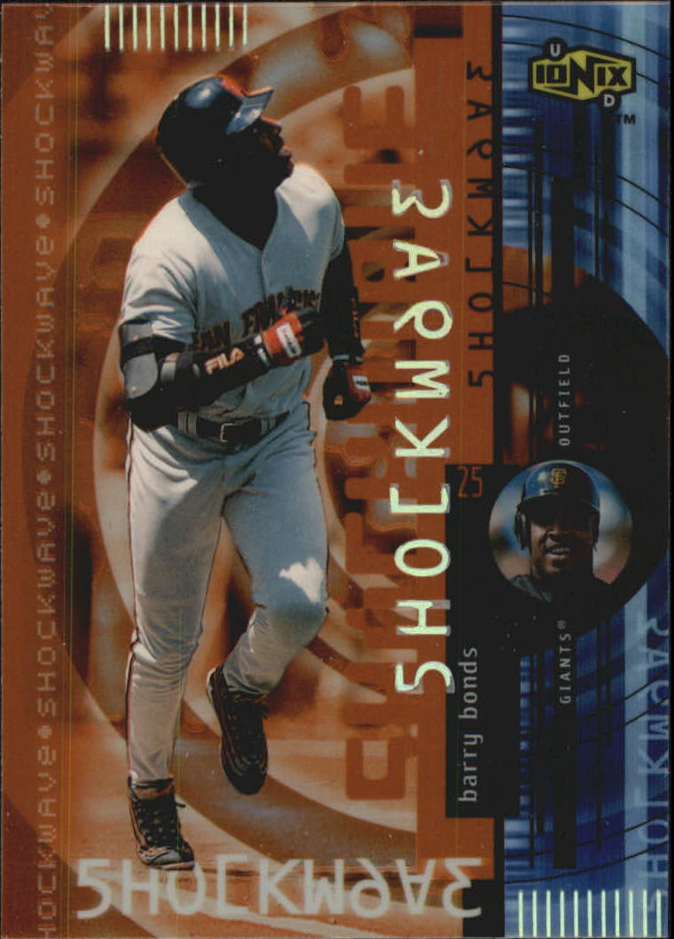 2000 UD Ionix Shockwave #S6 Barry Bonds