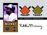 2000 Upper Deck A Piece of History 3000 Club #EMJBS Eddie Murray/Bat-Jsy AU/33