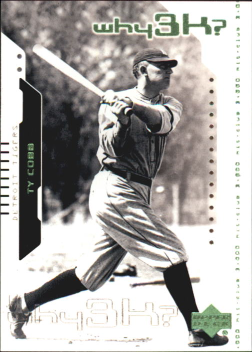 2000 Upper Deck Hitter's Club #57 Ty Cobb W3K