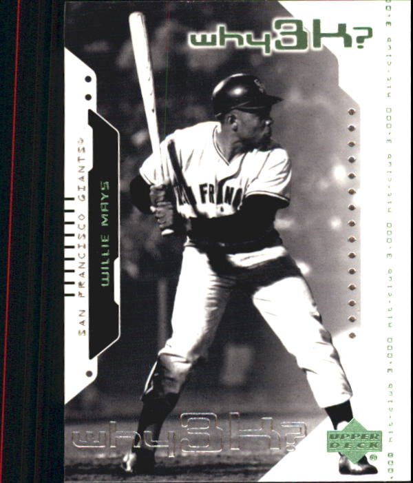 2000 Upper Deck Hitter's Club #65 Wille Mays W3K front image