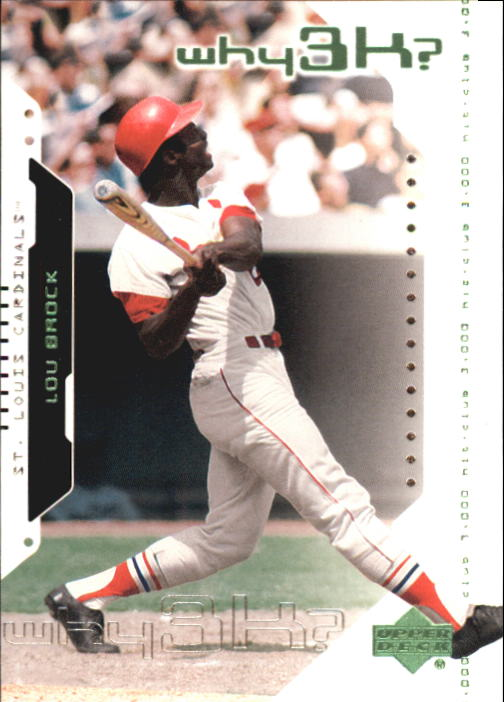2000 Upper Deck Hitter's Club #69 Lou Brock W3K