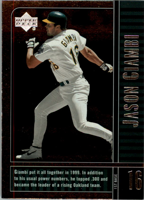 2000 Upper Deck Legends #8 Jason Giambi