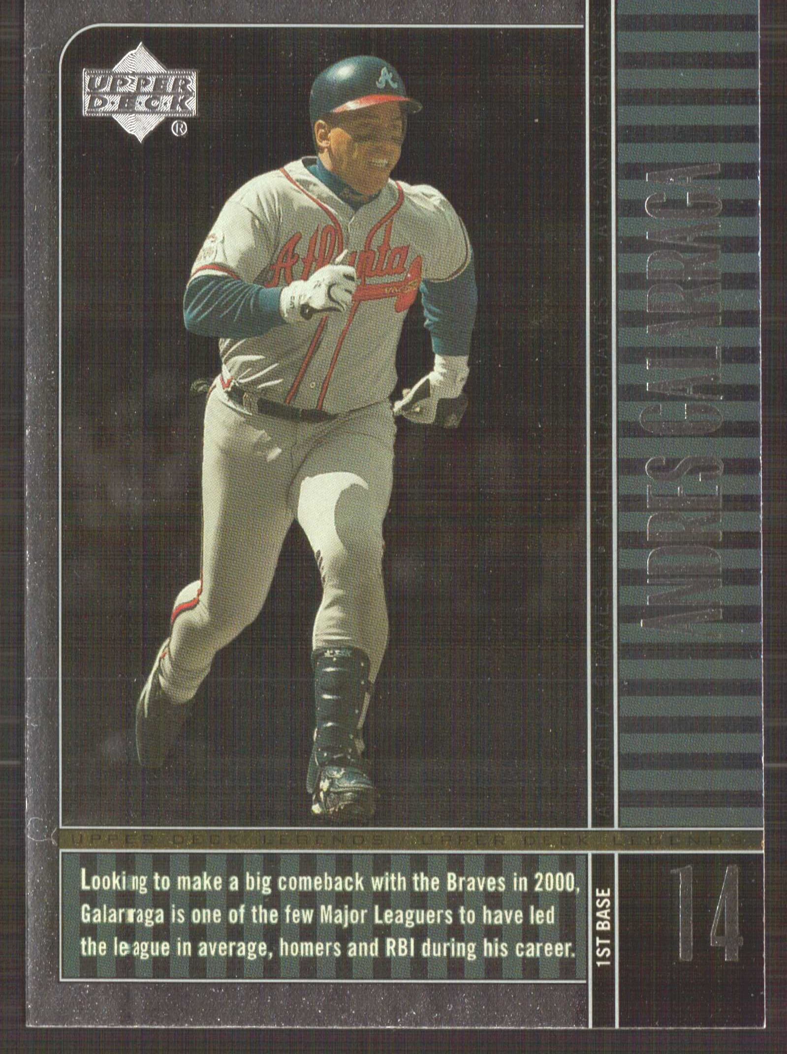 2000 Upper Deck Legends #12 Andres Galarraga