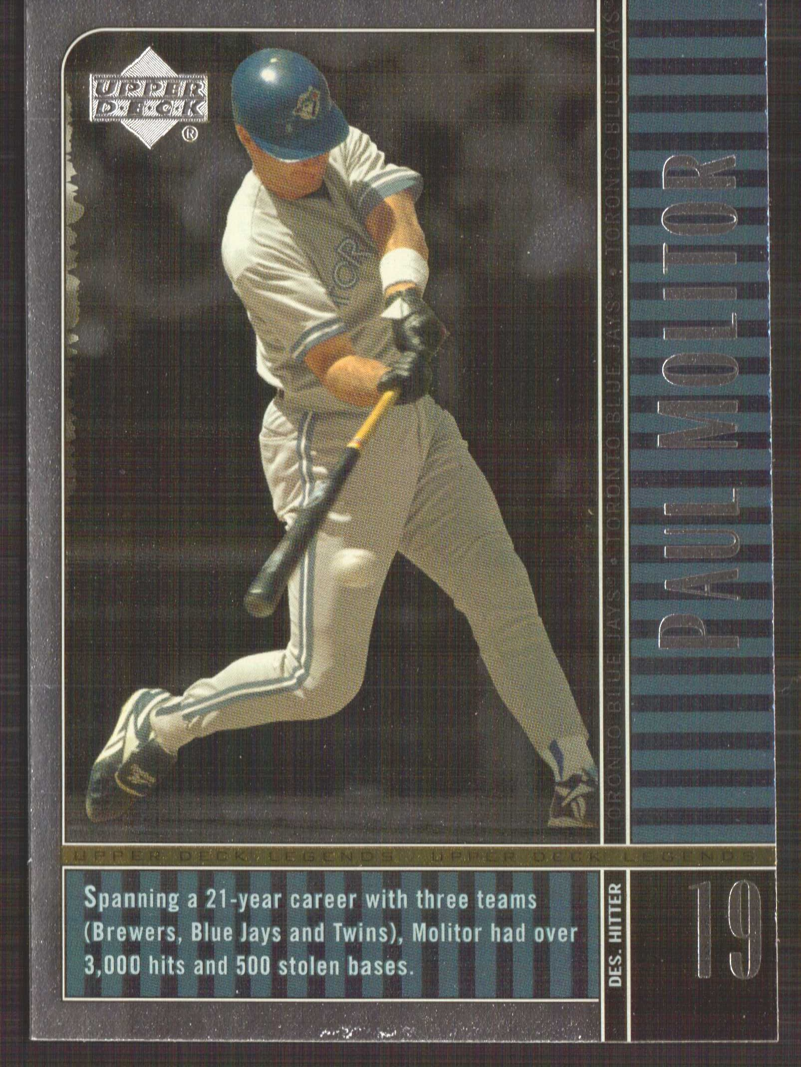 2000 Upper Deck Legends #15 Paul Molitor