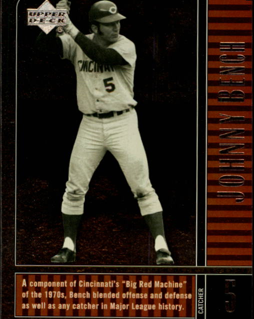 2000 Upper Deck Legends #63 Johnny Bench