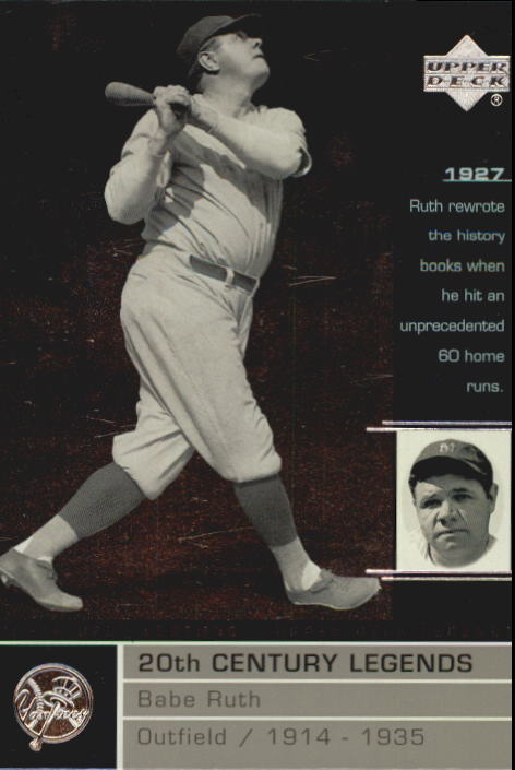 2000 Upper Deck Legends #106 Babe Ruth 20C