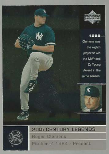 2000 Upper Deck Legends #112 Roger Clemens 20C