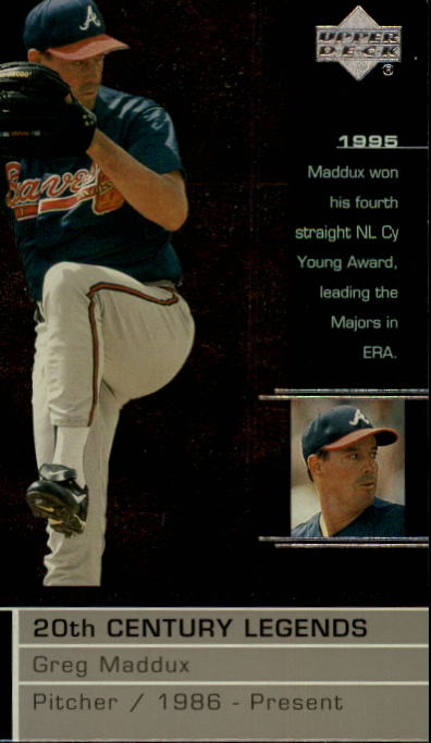 2000 Upper Deck Legends #122 Greg Maddux 20C