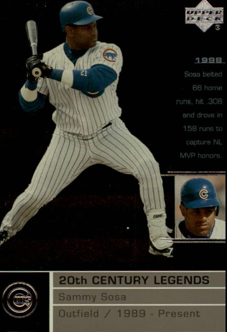 2000 Upper Deck Legends #124 Sammy Sosa 20C