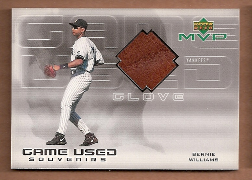 2000 Upper Deck MVP Game Used Souvenirs #BWG Bernie Williams Glove