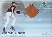 2000 Upper Deck MVP Game Used Souvenirs #CRG Cal Ripken Glove