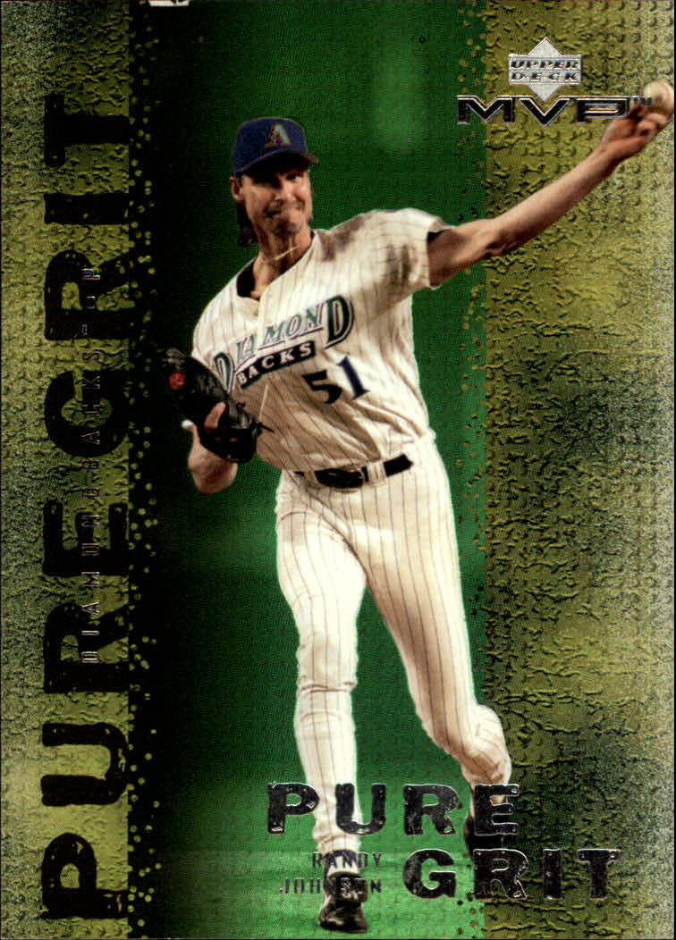 2000 Upper Deck MVP Pure Grit #G10 Randy Johnson